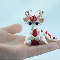 tiny candy cane dragon