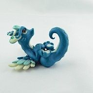 marine blue angel dragon