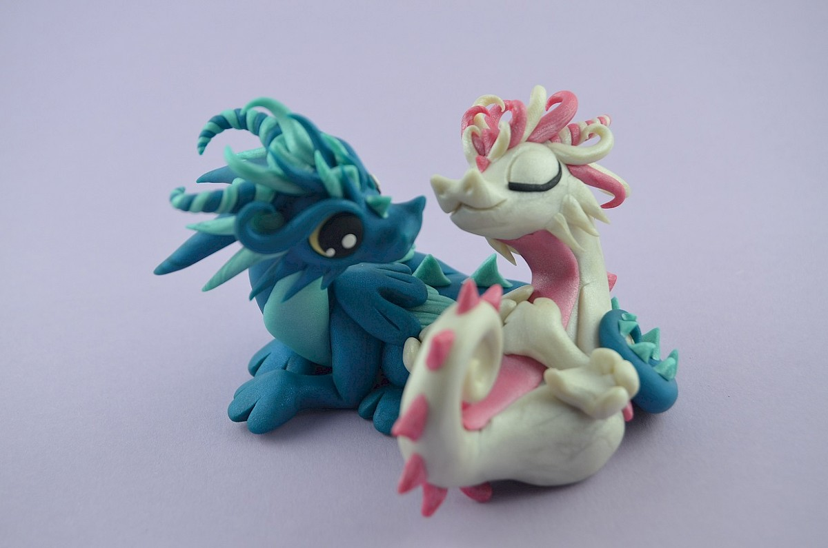 wedding cake topper - dragons - Claymeeples.com