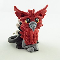 Red Griffin Figurine